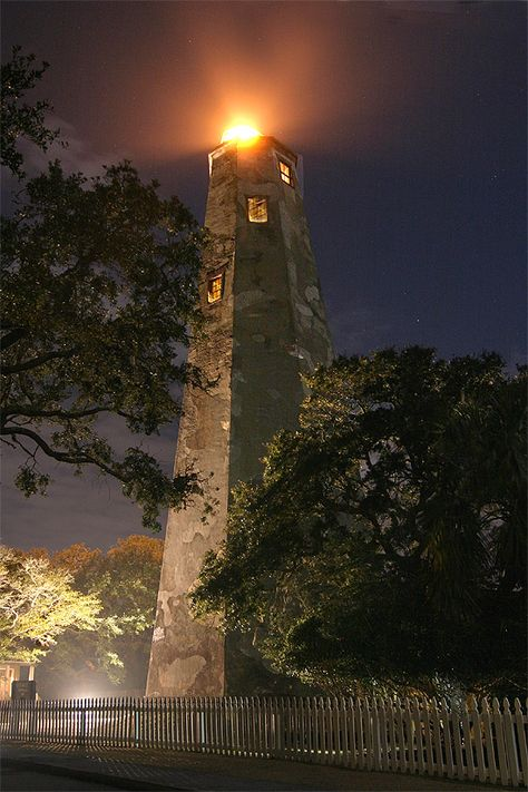 "*Bald Head Island Lighthouse - North Carolina  (Built in 1817, the lighthouse is nicknamed ""Old Baldy"")"