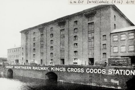 """Caption: """"Great Northern Railway Kings Cross Goods Station on the Regent's Canal"""""""