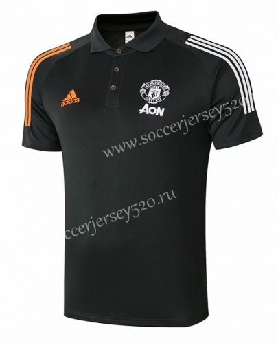 2020 2021 Manchester United Dark Gray Polo Shirt 815 In 2020 Grey Polo Shirt Gray Polo Polo Shirt