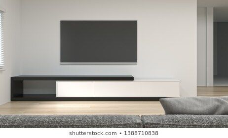 Clean Modern Tv Wood White Cabinet In Empty Room Interior Background 3d Rendering Home Designs Shelves Empty Rooms Interior Tv Room Design Desk In Living Room