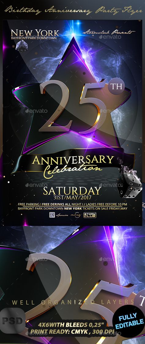 Sensation Party Flyer Poster u2014 Photoshop PSD #deluxe #poster - anniversary flyer