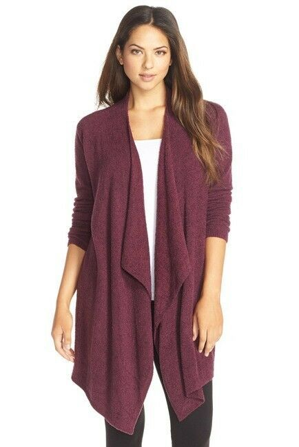 Barefoot Dreams Women CozyChic Lite Calypso Wrap Cardigan Sweater Purple XXS/XS #BarefootDreams #Cardigan #Casual