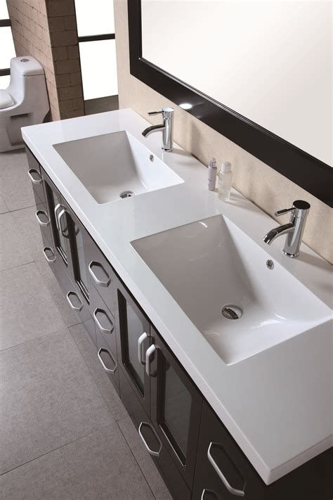 Modern Bathroom Vanities Design Element Stanton Double 72 Inch Modern Bathroom