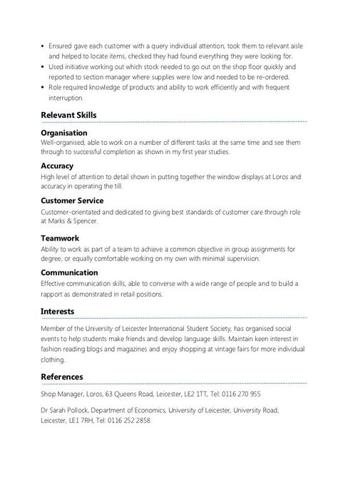 Student Part Time Resume Better Opinion Actingresumetemplate