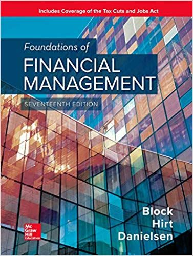 Solution Manual For Foundations Of Financial Management 17th