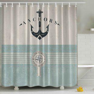 Shower Curtains You Ll Love Wayfair Fabric Shower Curtains Shower Curtain Sizes Nautical Bathroom Decor