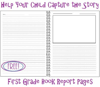 Living And Learning At Home Help Your Child Capture The Story   Book Report  Summary Template  Book Report Summary Template