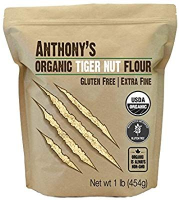Anthony S Organic Tiger Nut Flour 1lb Gluten Free Non Gmo Grocery Gourmet Food Benefits Of Organic Food Tigernut Flour Organic Recipes