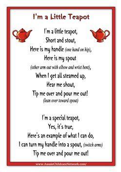I M A Little Teapot Song Sheet Sb10801 Sparklebox