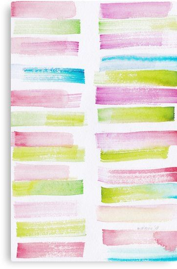 21 181101 Watercolour Palette Abstract Art Lines