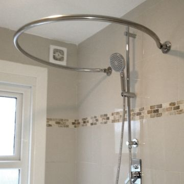 Byretech Stainless Steel Shower Rail Circular Mini O Byretech