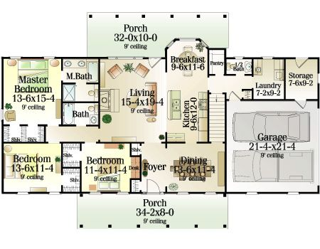 Wellsburg 5374 3 Bedrooms And 2 Baths The House Designers House Floor Design House Plans New House Plans