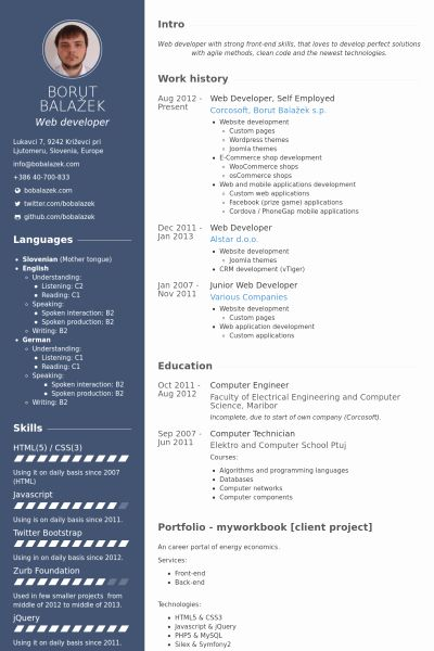 Web Developer Resume Template New Cv Mẫu Danh Cho Thiết Kế Website Idesign Web Developer Resume Web Development Resume Template