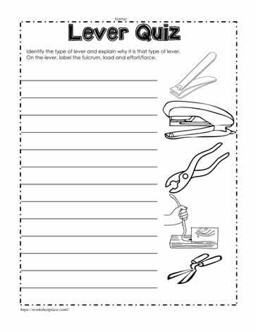 Lever Examples In 2021 Elementary Science Experiments Simple Machines Unit Matter Science Simple machines printable worksheets