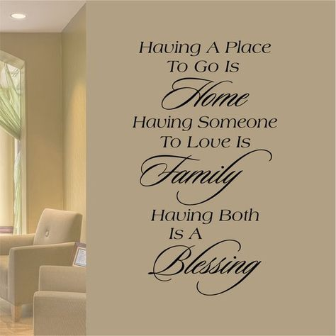 Home Family Blessing Decal, Family Wall Quote, Home Wall Decoration, Vinyl Wall Lettering, Vinyl Wal
