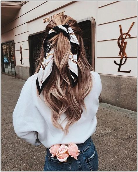 146+ blonde hair and printed scarf 69 | cynthiapina.me
