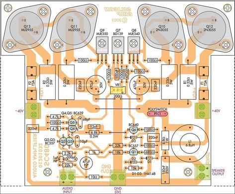 Amplificador De Audio Com 2n3055 Amplificador De Audio