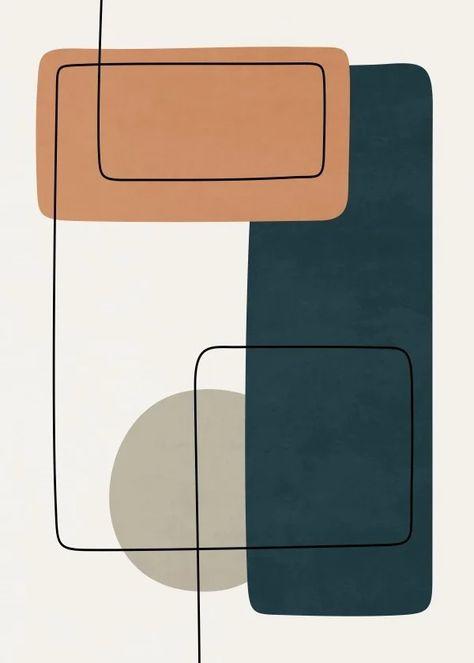 Quadro Decorativo - ABSTRACT SHAPES 8