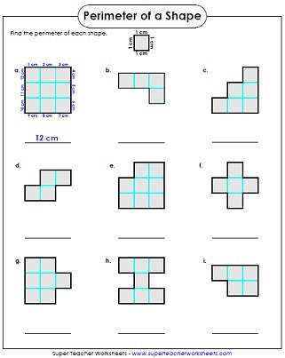 Perimeter Worksheet 3rd Grade On Super Teacher Worksheets 3rd Grade Perimeter Worksheets Area And Perimeter Worksheets Area Worksheets