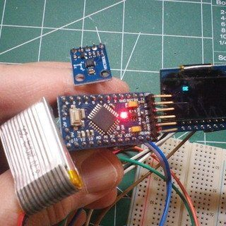 Arduino Nano: Accelerometer Gyroscope Compass MPU9250 I2C Sensor