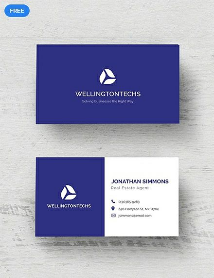 Free Corporate Business Card Template Business Cards Business