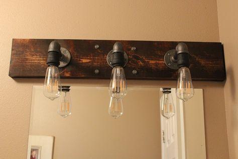 DIY Industrial Bathroom Light Fixtures   Light design, Key and Lights
