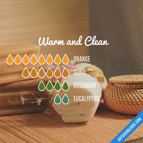 and Clean — Essential Oil Diffuser BlendWarm and Clean — Essential Oil Diffuser Blend Fall Essential Oils, Clove Essential Oil, Essential Oils Cleaning, Essential Oil Diffuser Blends, Essential Oil Uses, Essential Oil Combinations, Diffuser Recipes, Aromatherapy Oils, Aromatherapy Recipes