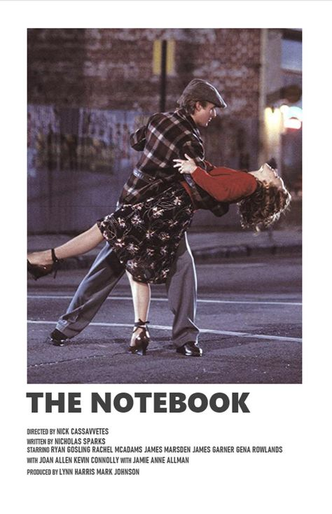 The Notebook minimal A6 movie poster