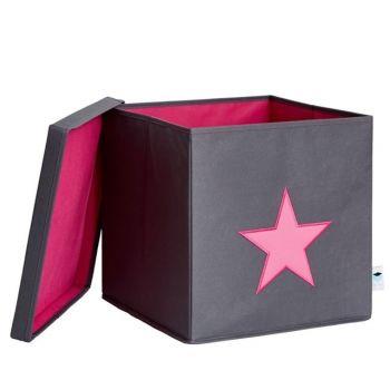Schmatzepuffer Kreative Ideen Store It Ordnungbox Aufbewahrungsbox Spielzeugbox Mit Deckel Grau Pink Rosa Stern B Aufbewahrungsbox Deckel Aufbewahrung