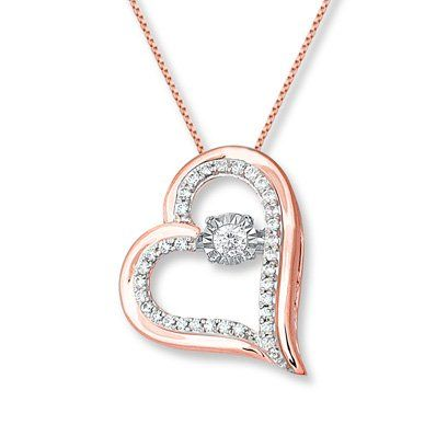Your Heart Will Skip A Beat With This Lovely Necklace From The Diamonds In Rhythm Collection The Round Heart Necklace Diamond Initial Pendant Necklace Pendant