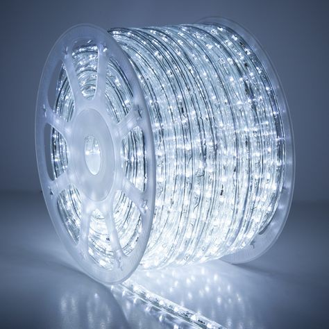 150 Cool White Led Rope Light 2 Wire 1 2 120 Volt In 2020 Led Rope Lights Led Cool Stuff