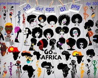 Hairstyle Png Girl Afro Women Afro Girl Africa Map