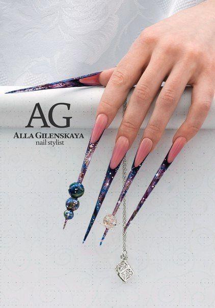 Long Pointed Nails Extra Long Nails Nail Art Long Nail Art Sharp Nails Crazy Nail Art Long Stiletto Nails Long Nails