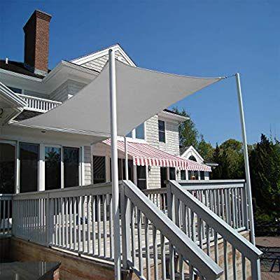 Artpuch Sun Shade Sail Canopy 12 X 16 Light Grey Cover For Patio Outdoor Rectangle Backyard Shade Sail For Garden Pool Pergola Outdoor Pergola Pergola Plans
