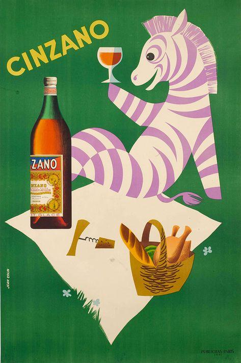 "cinzano advert vintage art print painting canvas or satin paper 28/"" x20/"""
