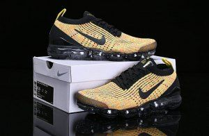 d139410452dc Nike Air Vapormax Flyknit 2019 Black Yellow AJ6900-006 Women s Men s  Running Shoes
