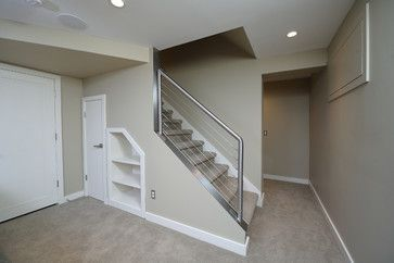 Clean And Sleek Railing That Is Removable Basement Stairs | Detachable Banister And Stair Hand Railing | Stair Case | Half Wall | Modern | Traditional | Mezzanine