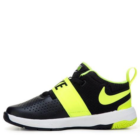 3a6f26873d Nike Kids' Team Hustle 8 Just Do It Basketball Shoe Toddler Shoes (Black /Volt)