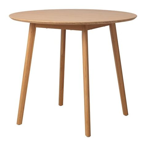 Oppli Table Bambou 90 Cm Table Cuisine Cuisine Ikea Ikea