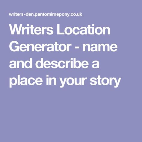 short story describing a place