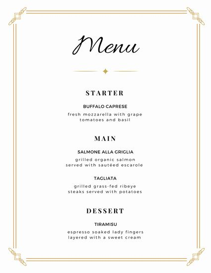 Free Dinner Menu Templates Lovely Customize 273 Wedding Menu Templates Online Canva Free Printable Menu Menu Card Template Printable Menu Cards