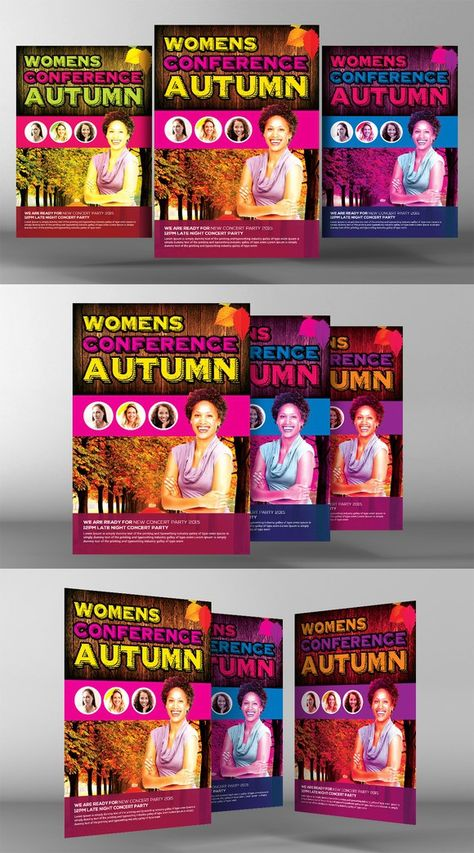 Autumn Womenâu20ac™s Conference Flyer Flyer Templates $600 Flyer - conference flyer template