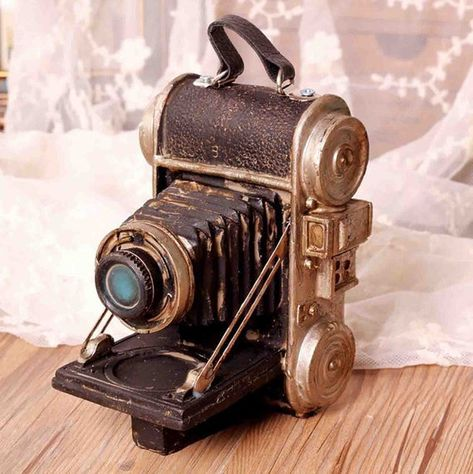 Faraway Resin Vintage Replica Camera Model Light Manipulator Model Photo Props Cafe Decor Home Decoration *** Learn more by visiting the image link.