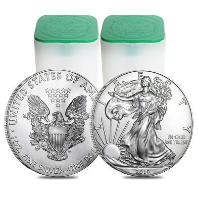 Lot Of 40 2018 1 Oz Silver American Eagle 1 Coin Bu 2 Roll Tube Of 20 Http Rover Ebay Com Rover 1 7 Silver Eagle Coins Coins For Sale Silver Krugerrand