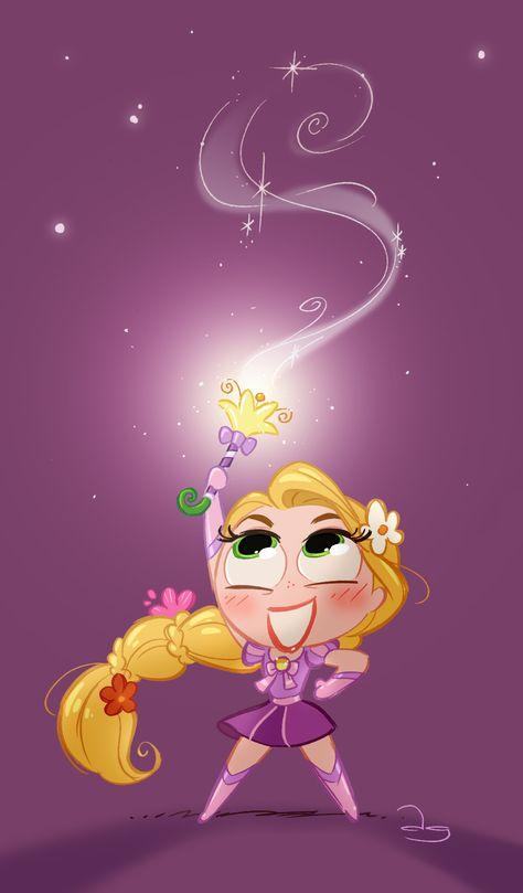 Chibie Magical Punzie by princekido.deviantart.com on @deviantART