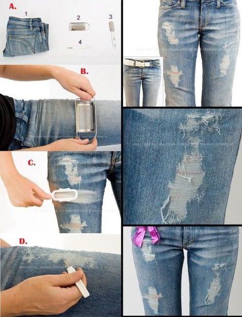 Фото красивыми как делают на джинсах дырки