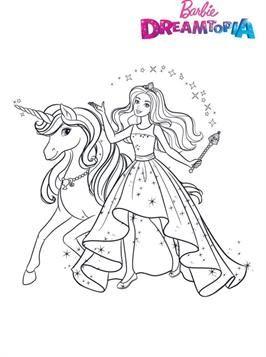 Nice Coloring Page Barbie Unicorn On Kids N Fun Unicorn Coloring Pages Mermaid Coloring Pages Barbie Coloring Pages