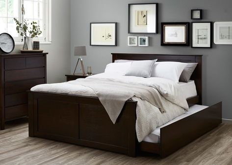 Double Size Bedroom Suites With Trundle 4pce For Age Boys S Hardwood Timber Frames In Brown Coco 2019 Home Decor Kids Furniture
