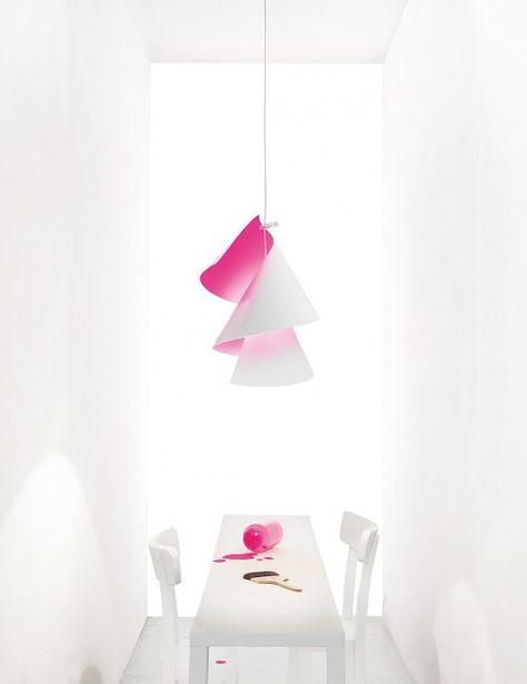 Ingo Maurer - Willydilly Bon leuchtpink   lighting   Lampade a ...