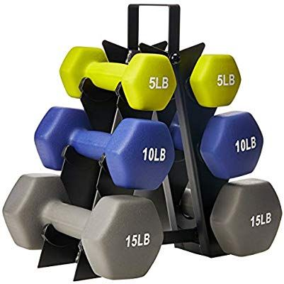 Indoor Outdoor Cardio Neoprene Workout Exercise Gym Dumbbell Weights 5 Lb Pair